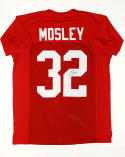 C. J. Mosley Autographed Red College Style Jersey- JSA W Authenticated