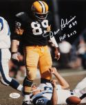 Dave Robinson Autographed Packers 8x10 Standing Over Player Photo W/ HOF- JSA W Auth