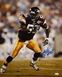 LaVar Arrington Autographed Redskins 16x20 Vertical Running Photo- JSA W Auth