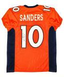 Emmanuel Sanders Autographed Orange Pro Style Jersey- JSA W Auth