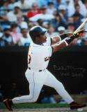 Eddie Murray Autographed 16x20 Swinging Photo W HOF 2003 and JSA Authenticated