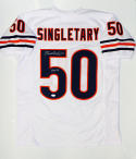Mike Singletary HOF Signed / Autographed White Pro Style Jersey- JSA Auth