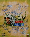 1969 New York Jets Autographed 16x20 Green Super Bowl Photo- JSA W Authenticated