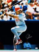 Juan Gonzalez Autographed 16x20 Texas Rangers At Bat Photo W/ 2 AL MVP- JSA Auth