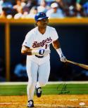 Juan Gonzalez Autographed 16x20 Texas Rangers Vertical Photo W/2 AL MVP-JSA Auth