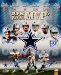 Dallas Cowboys SB MVP's Multi-Signed 16x20 Photo- JSA Authenticated