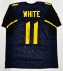 Kevin White Autographed Blue w/ Yellow College-Style Jersey- JSA Auth