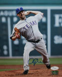 Cliff Lee Autographed 8x10 Rangers Pitching Photo- JSA Authenticated