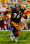 Jerome Bettis HOF Autographed Pittsburgh Steelers Goal Line Art Card- JSA Auth