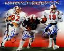 Dickerson, McIlhenny & James Autographed 8x10 SMU Pony Express Photo- JSA W Auth