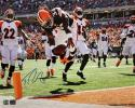 Trent Richardson Autographed 16x20 TD Dive Photo- JSA Authenticated