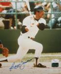 Reggie Jackson Autographed 8x10 Swinging Photo- JSA Authenticated