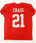 Roger Craig Autographed Red Jersey- JSA W Authenticated