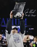 Joe Girardi Autographed 16x20 Holding WS Trophy Photo- JSA Authenticated