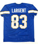 Steve Largent Signed / Autographed Blue W/ Yellow Jersey- JSA W Authenticated