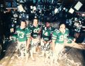 Sack Exchange Autographed 16x20 New York Jets Photo- PSA/DNA Authenticated