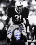 Shane Conlan Autographed 8x10 B&W On The Field Photo- JSA W Authenticated