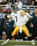 Ben Roethlisberger Autographed Steelers 16x20 Passing In SB Photo- JSA W Auth