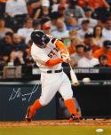 Jose Altuve Autographed 16x20 Houston Astros Batting *White Photo- JSA W Auth