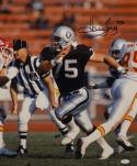 Howie Long Autographed Raiders 16x20 Against Chiefs Photo- JSA Witnessed Auth