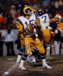 Vince Ferragamo Autographed Rams 16x20 Looking To Pass Photo- JSA Witnessed Auth