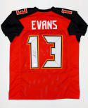 Mike Evans Autographed Red W/ Black Pro Style Jersey- JSA Auth