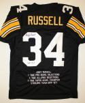 Andy Russell Autographed Black Pro Style Stat1 Jersey W/ Inscription- JSA W Auth