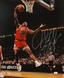 Dennis Rodman Autographed 16x20 Front View Dunk Photo- JSA Authenticated