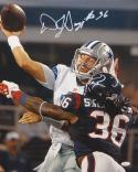 D.J. Swearinger Autographed 16x20 Cowboys QB Tackle Photo- JSA W Authenticated