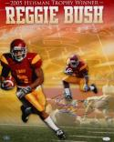 Reggie Bush Autographed 16x20 USC '05 Trophy Winner Photo- JSA Authenticated