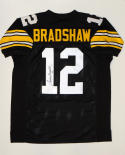 Terry Bradshaw Autographed Black Pro Style Jersey- JSA Witnessed Auth #12