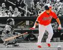 Chris Davis Autographed 16x20 B/W & Color Watching Hit Photo- JSA Authenticated