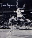 David Thompson Signed Denver Nuggets 16x20 B&W In The Air Photo- PSA/DNA Auth