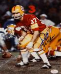 Pat Fischer Autographed 8x10 Redskins Coverage Stance Photo with JSA W Auth