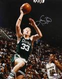 Larry Bird Autographed 16x20 Up Close Dunking Photo- JSA Authenticated