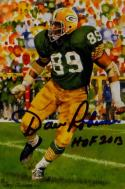 Dave Robinson HOF Signed Green Bay Packers Goal Line Art Card-JSA Auth