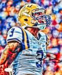 Odell Beckham Autographed 8x10 LSU Up Close Yelling Photo- JSA Authenticated
