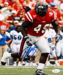 Patrick Willis Autographed Ole Miss Rebels 8x10 Vertical Running Photo- JSA Auth