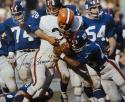 Jim Brown Autographed 16x20 Against NY Giants Photo- JSA Authenticated