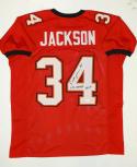 Dexter Jackson SB MVP Autographed Red W/ Black Pro Style Jersey- JSA Auth