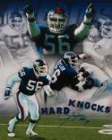 Lawrence Taylor Autographed Giants 16x20 Hard Knocks Photo W/ HOF and JSA W Auth