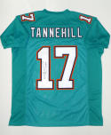 Ryan Tannehill Signed / Autographed Teal Pro Style Jersey- JSA Authenticated