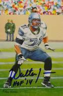 Walter Jones HOF Autographed Seattle Seahawks Goal Line Art Card- JSA Auth