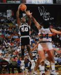 David Robinson Autographed 16x20 Shooting In Air Photo- JSA Authenticated