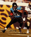 Fred Taylor Autographed Jacksonville Jaguars Running 16x20 Photo with JSA W