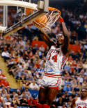 Hakeem Olajuwon Houston Autographed 16x20 Two Handed Dunk Photo- JSA W Auth