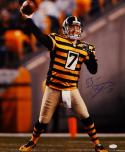 Ben Roethlisberger Autographed Steelers 16x20 Bumble Bee Uniform Photo- JSA W Auth