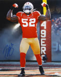 Patrick Willis Autographed San Francisco 16x20 Flexing In Smoke Photo- JSA W Auth