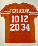 Texas Legends Signed / Autographed Orange College Style Jersey- JSA Auth