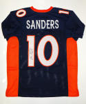Emmanuel Sanders Signed / Autographed Blue W/ Orange Pro Style Jersey- JSA Auth